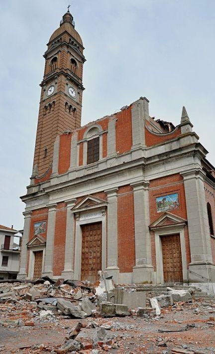 La chiesa di San Paolo a Mirabello (Fe). Foto di Mario Fornasari/CC BY 2.0/Wikipedia