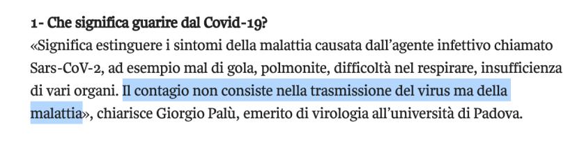 Covid Giorgio Palù